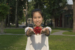 Girl with Cherry 2 Stock Photo