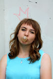 Girl is chewing gum Royalty Free Stock Images