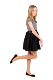 Girl child with black and white dress stock photos