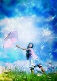 Girl, Child, Bubbles, Princess Stock Photo