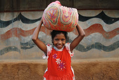 Girl Child in India Stock Photo
