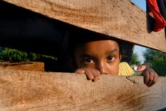 Girl Child in Nepal Stock Photo