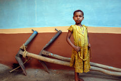 Girl Child in Rural India Royalty Free Stock Images