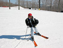 Girl child ski Royalty Free Stock Photo