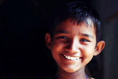 A girl child smiles at an orphanage Royalty Free Stock Image