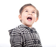 Girl child surprised Stock Photography