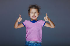 Girl Child Teen 7 years, European appearance Stock Image