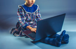 Girl Child Teen 7 years, of European appearance Royalty Free Stock Images