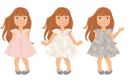 Girl child trio Royalty Free Stock Photography