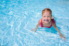 Girl child in water royalty free stock image