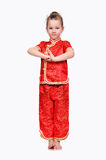 Girl in Chinese dress Royalty Free Stock Image