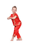 Girl in Chinese dress Stock Image