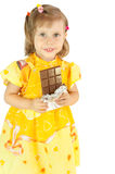 The girl with a chocolate Royalty Free Stock Photo
