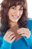 Girl with chocolate Stock Photography
