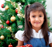 Girl in christmas Royalty Free Stock Photo