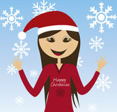 Girl christmas Stock Photo
