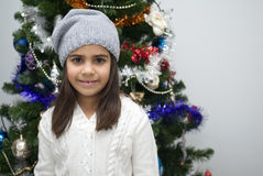 Girl at Christmas stock photography