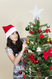 Girl and Christmas Royalty Free Stock Photography