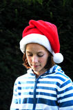 Girl at christmas Stock Image