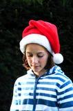 Girl at christmas. Portrait of girl at xmas Stock Image