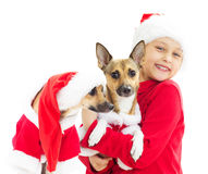 Girl in Christmas clothes Royalty Free Stock Image