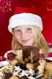 Girl with christmas cookies Royalty Free Stock Image