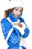 Girl in a Christmas costume Royalty Free Stock Images