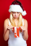 Girl on Christmas with gifts Stock Photography