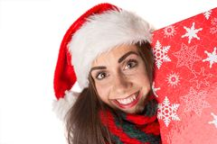 Girl in Christmas Stock Images