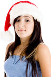 Girl with christmas hat Royalty Free Stock Photo