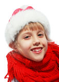 Girl on christmas Stock Photography