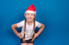The girl on Christmas Royalty Free Stock Photos