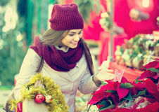 Girl at Christmas market Royalty Free Stock Photography