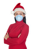 Girl at Christmas with mask Royalty Free Stock Photos
