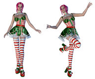 Girl in Christmas outfit Royalty Free Stock Photo