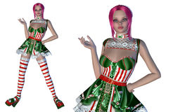 Girl in Christmas outfit Royalty Free Stock Images