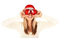 Girl on Christmas party Royalty Free Stock Photography