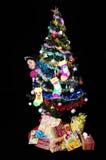 Girl with christmas present Royalty Free Stock Photos