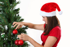 Girl christmas Stock Images
