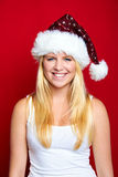 Girl on Christmas is smiling Stock Images
