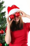 Girl christmas Stock Photos