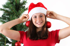 Girl christmas Royalty Free Stock Photography