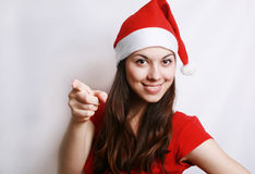 Girl in the christmas suit Stock Photography