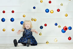 Girl at Christmas time Royalty Free Stock Photos