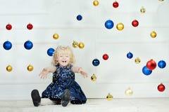 Girl at Christmas time Royalty Free Stock Photos