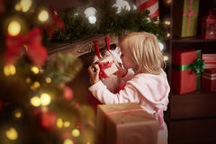 Girl during Christmas time Royalty Free Stock Photography