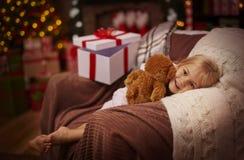 Girl during Christmas time Stock Photography