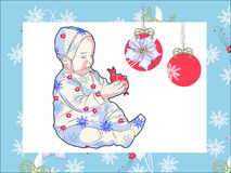 Girl with the Christmas Toy Stock Images