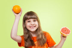 Girl with citrus Royalty Free Stock Photos