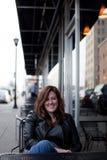 Girl in the City Stock Photo
